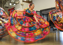 colorful dress in motion